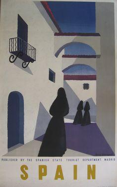 SPAIN Guy Georget #vintage #tourism #poster