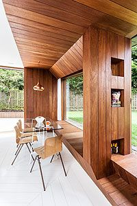 """""""Burying"""" the extension means that the window seats are at the same height as the lawn outside"""