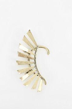 Metal Wing Hanger Earring