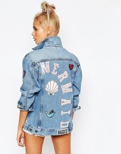 dcf49181 Sereísmo Denim Jacket With Pins, Jean Jackets With Patches, Denim Jacket  Patches, Denim