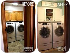 Blissfully Ever After: 100 dollar Laundry Room Makeover Reveal