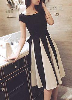 La alta cintura del Bowknot adornó el vestido del diseño del recorte