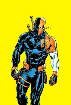 I frickin' love DC Comics. I mostly stick to the Bat Family. Dc Comics Characters, Dc Comics Art, Marvel Dc Comics, Deathstroke Comics, Deathstroke The Terminator, Univers Dc, Martian Manhunter, Red Hood, Black Canary