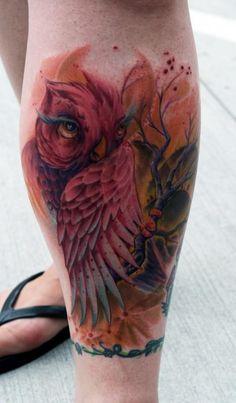 owl tattoo , love this ❤