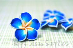 Polymer Clay Plumeria Frangipani Flower by HappyCloudSupplies