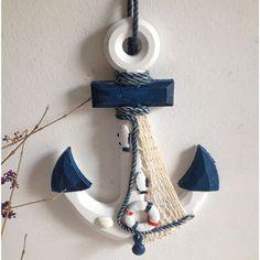 Ornamental náutico a decoração da casa em madeira artesanato 33cmL âncora ganchos de toalha parede vela decoração(China (Mainland)) Wood Crafts, Diy And Crafts, Wood Anchor, Ocean Room, Seashell Crafts, Boy Art, Handmade Home Decor, Beach Art, Summer Crafts