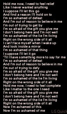 Quote of my life :( Me Now, Just Me, Like Me, Give It To Me, How To Get, Let It Be, I Dont Belong Here, Find A Song, Speak The Truth