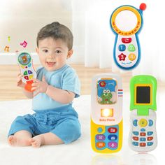 Random Colors Toy Phones Children Kids Electronic Mobile Phone With Sound Smart Phone Toy Cellphone Early Education Toy Infant Toys