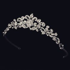 """The Sofia"" Antique Silver Swarovski Crystal Tiara"