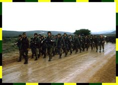 Marching through the rain. Army Day, Coin Values, Defence Force, Boarders, Real Men, Soldiers, South Africa, Southern, Rain