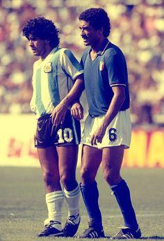 Gentile and Maradona.