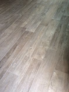 Wood tile floors are in & they are stunning!! Walker Zanger Statale in the color Paglia. Grout color Laticrete permacolor # 24 natural gray.