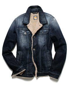 Sherpa-lined denim jacket by Boss Orange (Hugo Boss)