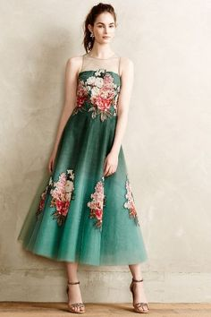 Pretty green tulle dress