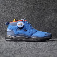REEBOK Blue Leather Solid Sports Shoes