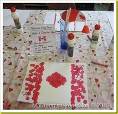 February 15 was declared National Flag of Canada in It marks the day in 1965 when our red and white maple leaf flag was fir. Geography Activities, Literacy Activities, National Flag Of Canada, Preschool Summer Camp, Happy Birthday Canada, Bingo Dabber, Olympic Idea, Valentine Bingo, Around The World Theme