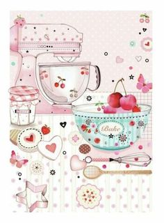 Ideas Baking Illustration Treats For 2019 Vogel Quilt, Mode Poster, Buch Design, Fun Cupcakes, Kitchen Art, Food Illustrations, Recipe Cards, Cute Wallpapers, Food Art