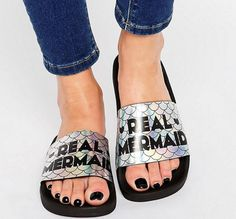 A pair of sandals to complete any pool party ~lewk~.