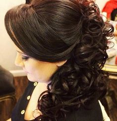 "image by Sonia Lopes ( with caption : ""Boa noite ✨ ✨ . Prom Hairstyles For Long Hair, Bride Hairstyles, Ponytail Hairstyles, Pretty Hairstyles, Updo Hairstyle, Mother Of The Bride Hair, Quinceanera Hairstyles, Hair Styler, About Hair"