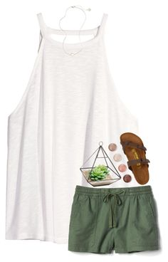 """Rtd!!!"" by southerngirl03 ❤ liked on Polyvore featuring H&M, Gap, Kendra Scott, Birkenstock and Terre Mère"