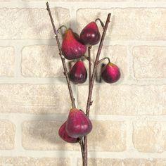 Deko-Zweig mit Feigen Silk, Fruit, Color, Figs, Deco, Colour, Silk Sarees, Colors