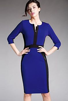 689bd463d78 HOMEYEE Women s Stretch Tunic Pencil Sheath Dress U837 at Amazon Women s  Clothing store