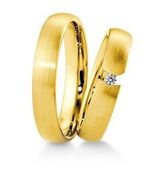 Breuning Trouwringen | Inspiration collectie gouden ringen | 4,5mm briljant 0.04ct verkrijgbaar in 8,14 en 18 karaat | 48041270 / 48041280 OOK in Wit en rozé goud verkrijgbaar