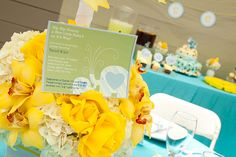 turquoise baby shower themes - Google Search