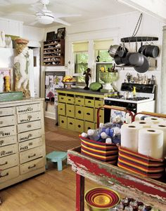 """Fun """"new"""" country kitchen! Love this!"""