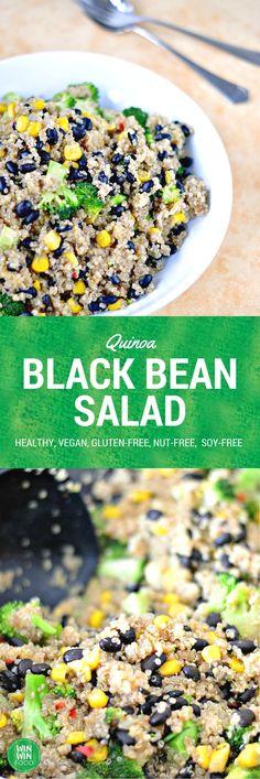 Quinoa Black Bean Salad |WIN-WINFOOD.com #healthy #vegan #glutenfree