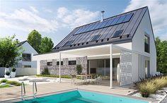 projekt Sam II energo plus Gazebo, Pergola, Modern House Design, Outdoor Decor, Home Decor, Barn Homes, Houses, Kiosk, Decoration Home