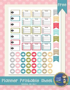 planner sticker printable