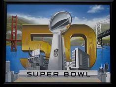 Super Bowl 50th NFL Anniversary Painting Video by Marc Potocsky MJP Studios CT.