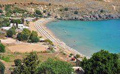 Lindos Beach In Rhodes Greece