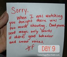 Letter from the elf on the shelf... clever