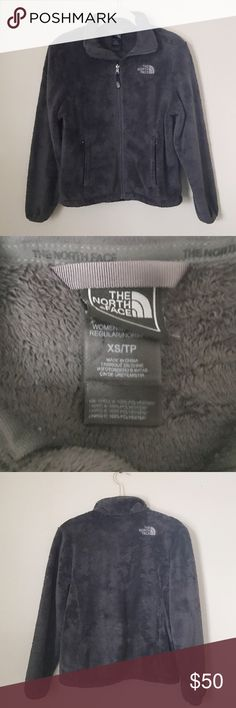 North Face Jacket Gray soft fluffy fleece zip up jacket. I think this is the osito jacket. The fur is still fluffy. Womens size XS. Good condition. North Face Jackets & Coats