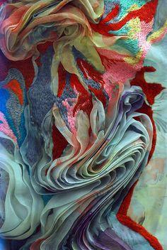 Detail of Marit Fujiwara's incredible fabric!