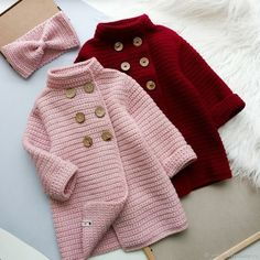 Embroidery for Beginners & Embroidery Stitches & Embroidery Patterns & Embroidery Funny & Machine Embroidery Cardigan Au Crochet, Crochet Baby Sweater Pattern, Cardigan Bebe, Baby Sweater Patterns, Crochet Coat, Crochet Baby Shoes, Crochet Baby Clothes, Baby Knitting Patterns, Baby Patterns