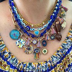 Funky Jewelry, Hand Jewelry, Hippie Jewelry, Cute Jewelry, Beaded Jewelry, Jewelry Accessories, Jewelry Necklaces, Beaded Necklace, Turkish Jewelry