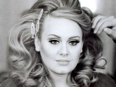 Adele... lovin' the big curls! My hair needs to be much longer to do this though