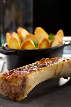 Roasted Bone Marrow: yay or nay? We vote yay, especially served with crusty bread at Comme Ca.