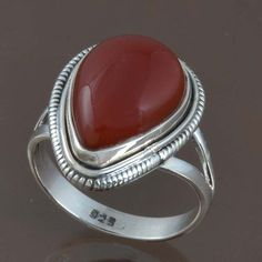 HOT SELL RED ONYX 925 STERLING SILVER RING JEWELRY 6.52g DJR8975 SIZE-8.25 #Handmade #Ring