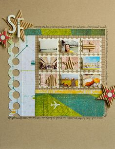 #papercraft #scrapbook #layout like this layout