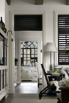 Black plantation shutters - Bill Litchfield Designs | The Architecture of William B. Litchfield | Atlanta, GA
