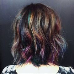 Oil slick and cool choppy cut