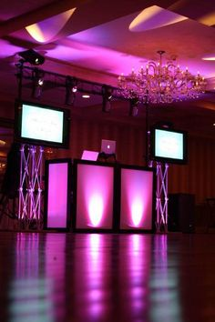 I could see this being where DJ Spicaly mixes da music for our reception but with PURPLE light's. :o)