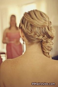 gorfeous long blonde braided wedding hairstyle - Hairstyle Ideas
