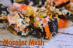 Monster Mash Recipe - This colorful snack mix is fun and tasty. I have all the ingredients and directions here so you can make it for your little monsters.