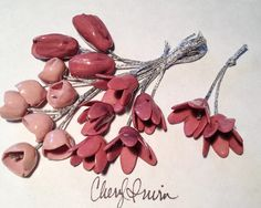 These are hand formed one-of-a-kind mid-fire porcelain beads, original copyright protected designs. © 2015 Cheryl Irwin