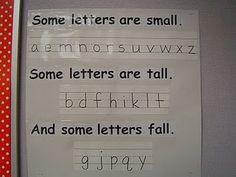 Handwriting reminder.  Next year I am going to do a better job of teaching handwriting!